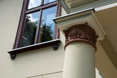 Column. Window and column with architecural detail Stock Images