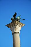 Column with winged lion, back side, Venice, Italy Royalty Free Stock Photo
