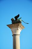 Column with winged lion, Venice, Italy Stock Photos