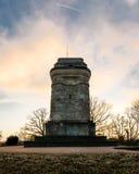 Columna al aire libre Autumn Sun de la torre del monumento de Stuttgart Bismarckturm fotografía de archivo libre de regalías