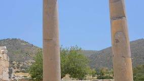 Columna antigua Patara, Turqu?a almacen de video