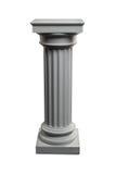 Columna blanca del yeso Imagen de archivo