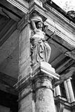 Columna de la cariátide Foto de archivo