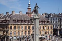 Columna de la diosa y de la bolsa de Vieille en Lille Fotografía de archivo