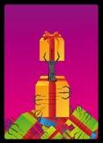 Columna de la ilustración de la mano del monstruo Imagen de archivo libre de regalías