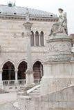Columna de la justicia y estatua de la paz en Udine, Italia Foto de archivo