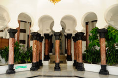 Columna de la mezquita de Ubudiah en Kuala Kangsar, Perak Imagenes de archivo