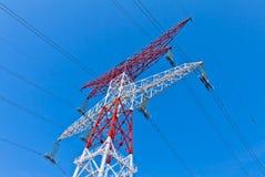 Columna de la transferencia de energía Foto de archivo libre de regalías