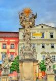 Columna de la trinidad santa en Brno, República Checa fotos de archivo