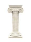 Columna de mármol aislada Imágenes de archivo libres de regalías