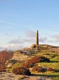 Columna de Nelsons en el borde de abedul Derbyshire Imágenes de archivo libres de regalías