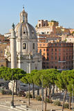 Columna de Trajan en Roma imágenes de archivo libres de regalías