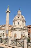 Columna de Trajan, Roma Imagenes de archivo
