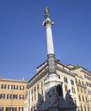 Columna del concepto inmaculado, Roma Imagen de archivo libre de regalías