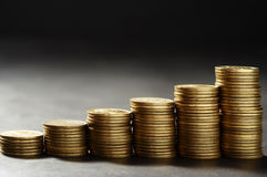 Columna del dinero Foto de archivo libre de regalías