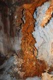 Columna del hierro corroída por la sal Imágenes de archivo libres de regalías