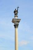 Columna del rey Sigismund III contra la perspectiva del s fotos de archivo libres de regalías