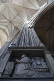 Columna dentro de la catedral de Amiens Fotografía de archivo