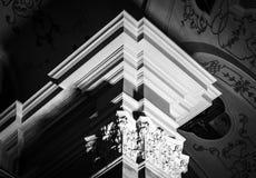Columna destacada hermosa en blanco y negro Imagen de archivo libre de regalías