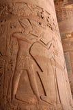 Columna egipcia Imágenes de archivo libres de regalías