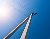 Columna eléctrica Imagen de archivo libre de regalías