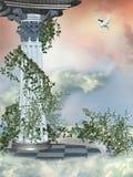 Columna en el cielo Foto de archivo