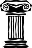 Columna griega abstracta Foto de archivo libre de regalías