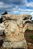 Columna griega de un templo antiguo, Grecia foto de archivo libre de regalías