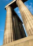 Columna griega que lanza para arriba Fotografía de archivo libre de regalías