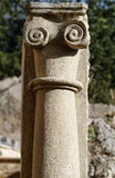 Columna iónica de la orden Foto de archivo