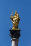 Columna mariana de Munich en Marienplatz, Alemania, 2015 Imagenes de archivo