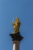 Columna mariana de Munich en Marienplatz, Alemania, 2015 Fotografía de archivo