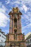 Columna monumental de la plaga en Banska Stiavnica, Eslovaquia Imagen de archivo