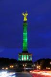 Columna o Siegessaule de la victoria de Berlín fotografía de archivo