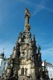 Columna (pestilente) de la trinidad santa en Olomouc Fotografía de archivo