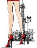 Columna próxima de Vendome de la mujer en París
