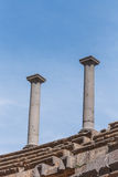 Columna romana antigua Imagen de archivo libre de regalías