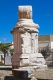 Columna romana. Brindisi. Puglia. Italia. Foto de archivo