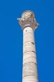 Columna romana. Brindisi. Puglia. Italia. Fotos de archivo