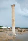 Columna romana de los baños de Antonine Fotografía de archivo