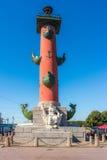 Columna rostral en la isla de Vasilyevsky Foto de archivo