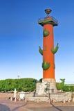 Columna rostral en St Petersburg en Rusia Foto de archivo libre de regalías
