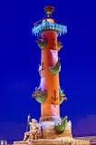Columna rostral en St Petersburg, Rusia Imagen de archivo libre de regalías