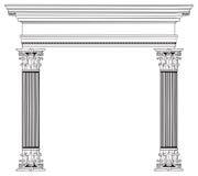Columna y arco griegos Imágenes de archivo libres de regalías
