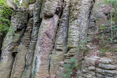 Columnar basalt Royalty Free Stock Photography