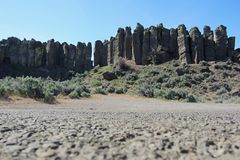 Columnar Basalt Pillars Stock Photos