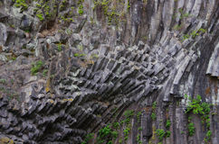 Columnar joint basalt Royalty Free Stock Photo
