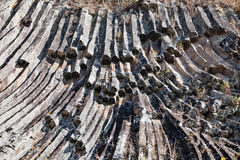 Columnar joints Stock Image