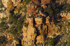 Columnar rock formations of Grand Canyon viewed from Navajo Poin Royalty Free Stock Photography