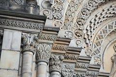 Columnas adornadas de la iglesia Fotos de archivo libres de regalías